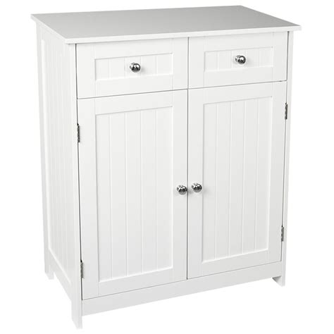 priano bathroom cabinet 2 drawer 2 door storage cupboard