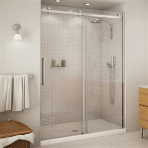 Maax Glass Shower Doors Maax 174 Halo 56 1 2 Quot 59 Quot Sliding 2 Panel Shower Door At Menards 174