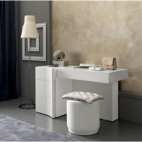Contemporary Bedroom Vanity by Modern Makeup Vanity Table Shelby