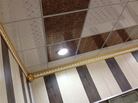 Fireproof Ceiling Material by Wood Grain Ceiling Panels Fireproof Pvc False Ceiling