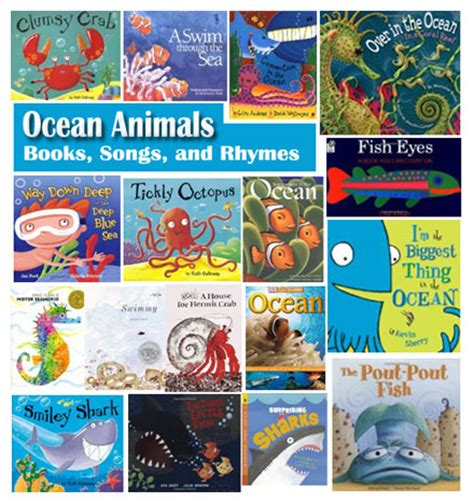 themes for kindergarten books ocean animals books songs and rhymes for preschool and