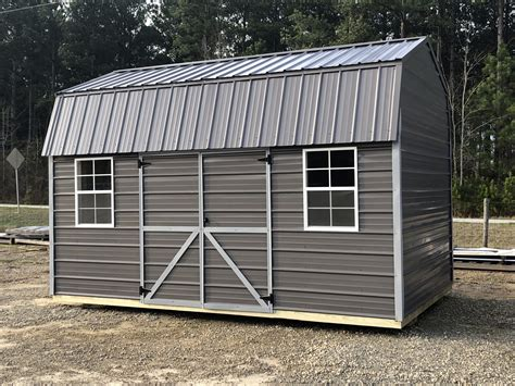 metal side lofted barn shed   home structures