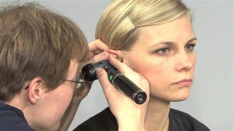 ear examination with otoscope otoscopic examination youtube