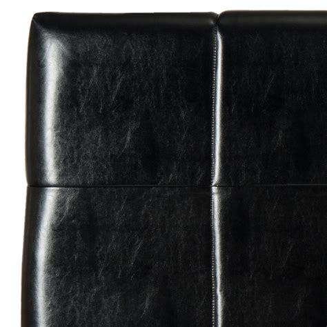 Black Leather Headboards Quincy Black Leather Headboard Headboards Furniture By Safavieh