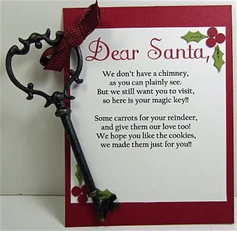 printable santa key poem santa key we do have a fire place but if we ever move i