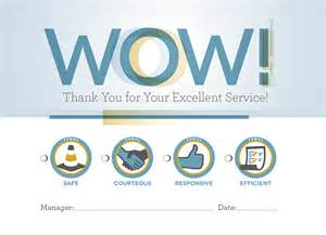 business card customer service wow cards recognize business operations employees who put