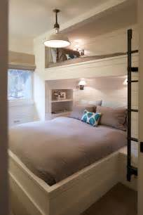 Bedroom Designs For Bunk Beds by Built In Bunk Beds Cottage Bedroom Artistic Designs For Living