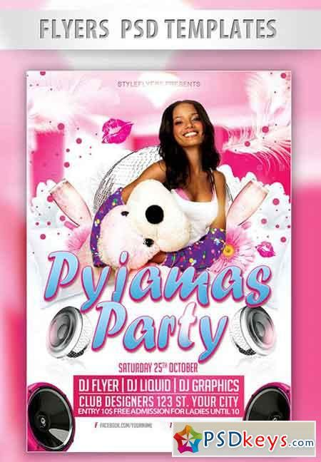 Pyjamas Party Flyer Psd Template Facebook Cover 187 Free Download Photoshop Vector Stock Image Pajama Flyer Template