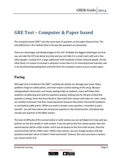 gre experimental section gre comprehensive information booklet