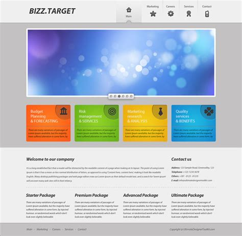 corporate web layout design 25 simple photoshop web design tutorials