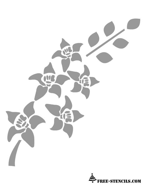 Wall Stencil Templates Free by Free Printable Wall Stencils Of Flowers