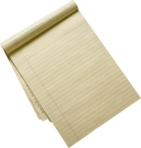 Make Paper Transparent - recycled lined paper sheet transparent png stickpng
