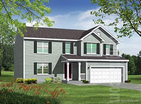 house illustration home rendering roanoke virginia