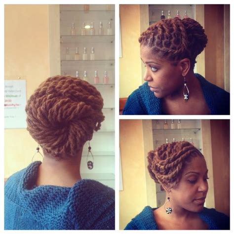 Pin Upkinkytwistdreads | two strand twists and a cute pin up locs dreads