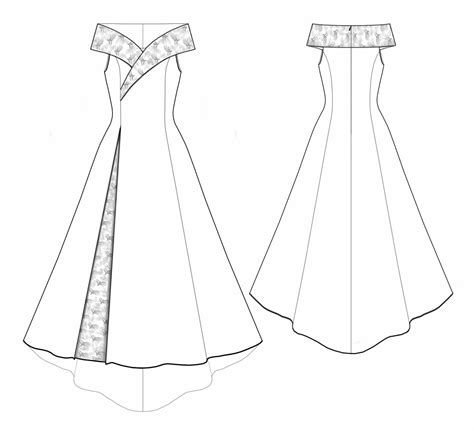 wedding dress template 5530 personalized wedding dress pattern bridal gown wedding