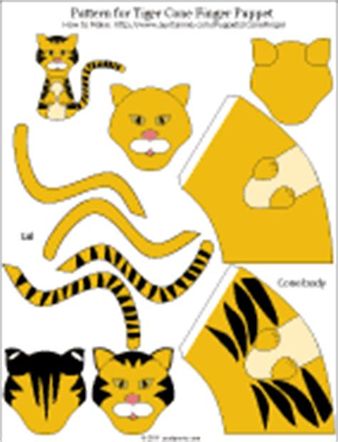 tiger puppet template how to make paper cone finger puppets puppets around the