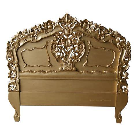 rococo headboards rococo antique gold headboard french bedroom 163 280 00