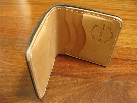 Custom Handmade Leather Wallets - crafted handmade leather billfold wallet vertical