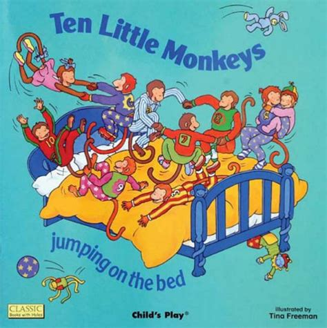 ten little monkeys jumping on the bed ten little monkies