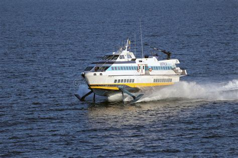 hydrofoil boat speed high speed hydrofoil ferry boat editorial stock photo