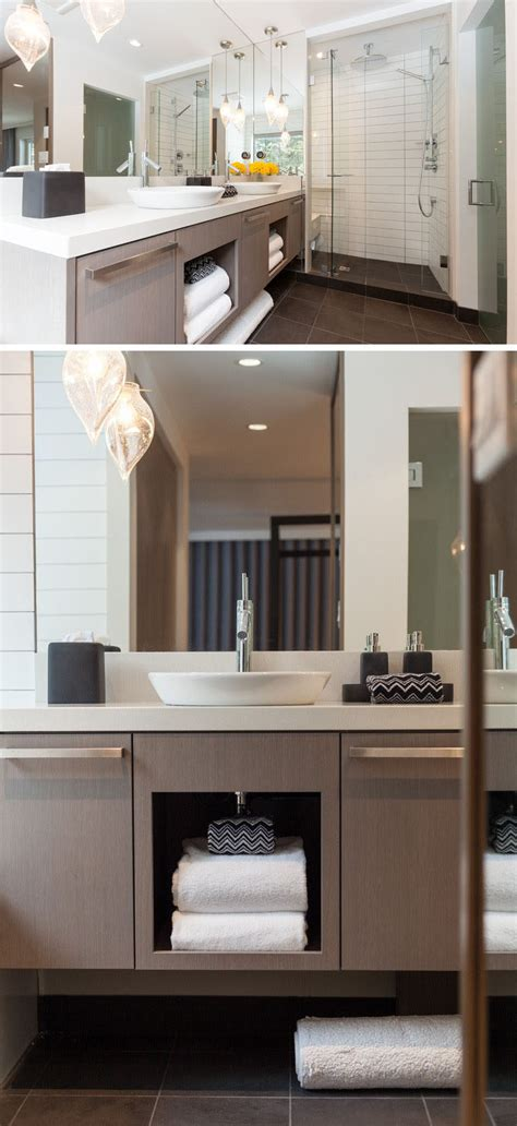 open bathroom shelving 15 exles of bathroom vanities that open shelving