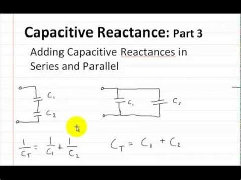 how to add inductance in parallel capacitive reactance part 1 doovi