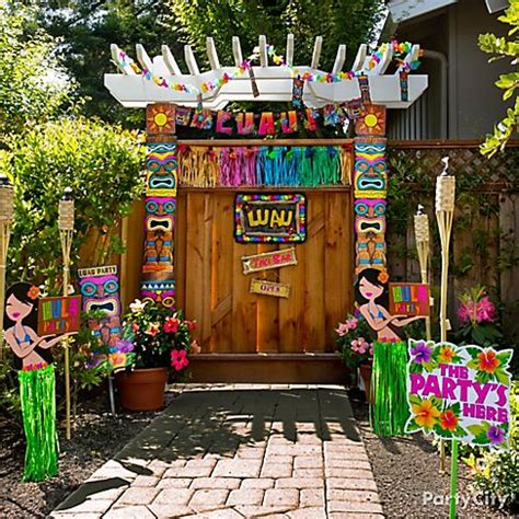 luau themed decorations hawaiian decorations ideas house experience