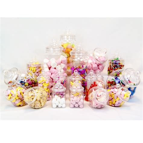 19 retro vintage plastic jars candy buffet sweet shop