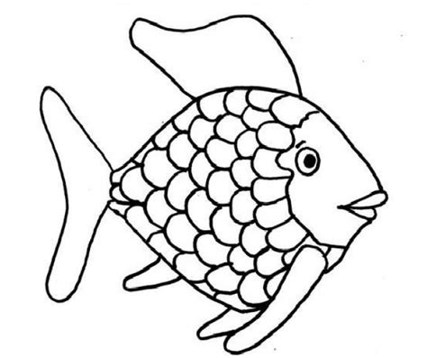 easy coloring pages of fish rainbow fish template to color kids coloring page