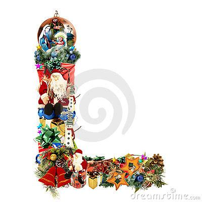 letter l for christmas decoration stock images image
