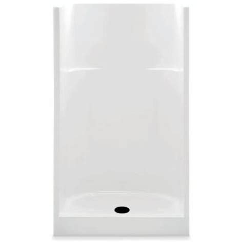 aquatic 36 in x 36 in x 72 in gelcoat shower stall in