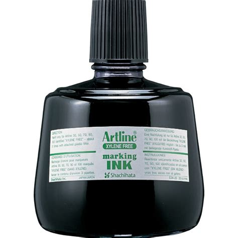 Artline Refill Ink artline marking pen refill ink 20cc 330ml bottles of ink so you can refill your permanent marker p