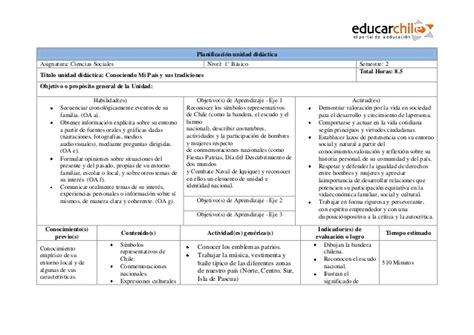 unidad didactica ejemplo planificacion unidad didactica 1