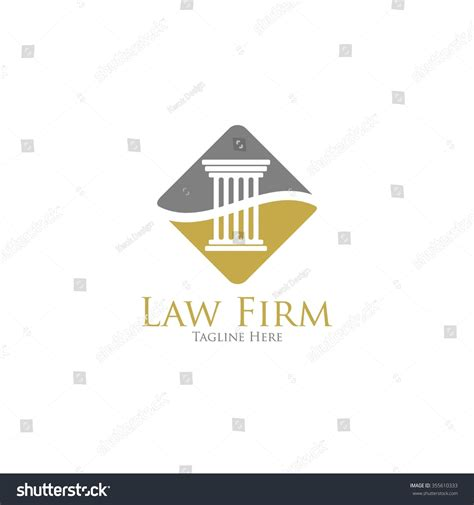 lawyer logo template office logo judge firm stock vector 355610333