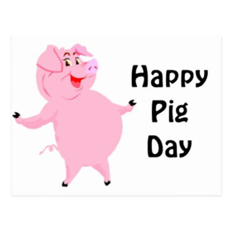 Happy Pig Day | happy pig day postcards zazzle