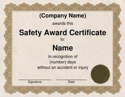 safety award certificate template free word certificate templates wording geographics