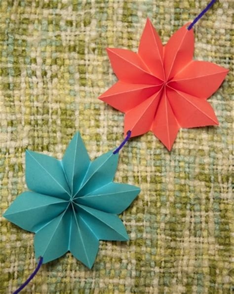 Folded Paper Garland - diy garlands activity education