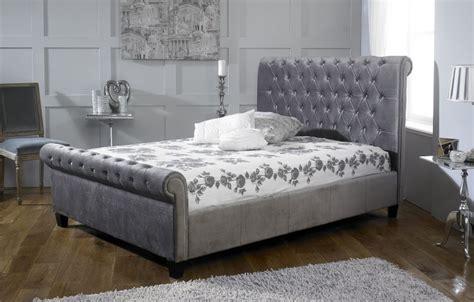 silver frame bed limelight orbit 5ft kingsize plush silver velvet fabric