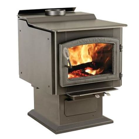 vogelzang ponderosa 3 000 sq ft wood burning stove with