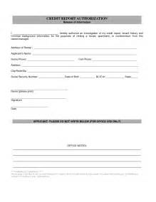 Credit Report Authorization Form Template by Best Photos Of Credit Authorization Form Template Credit