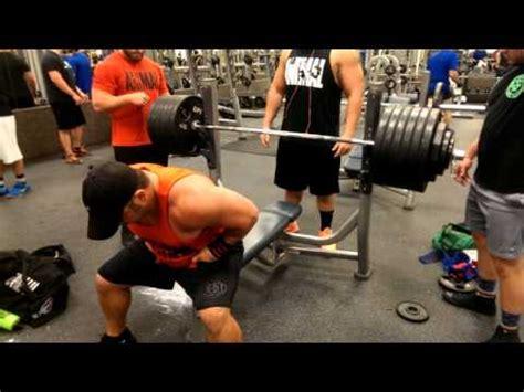 josh bryant bench press jeremy hoornstra bench press training v youtube