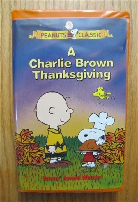 peanuts classic a brown thanksgiving vhs ebay