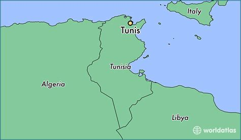 tunisia on map where is tunis tunisia tunis tunis map worldatlas