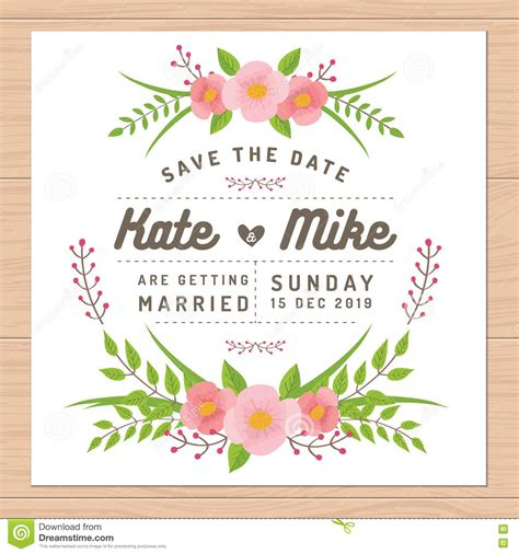 wedding invitation card suite with flower templates save the date wedding invitation card with flower