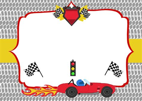 blank race car templates free printable race car birthday invitations