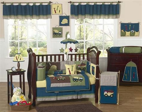 Construction Crib Bedding Set by Construction Zone Baby Bedding 9 Pc Crib Set Only 179 99