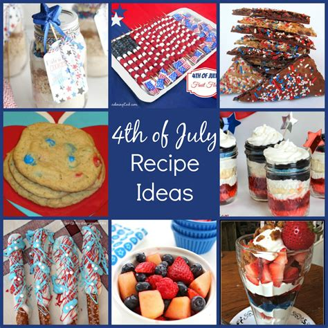 4th of july recipe ideas family fun journal