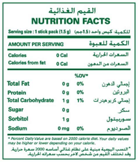Tropicana Slim Skim Coffee stevia sweetener nutrition facts nutrition ftempo