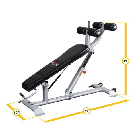 body solid sit up bench body solid sab500 full commercial adjustable ab sit up bench