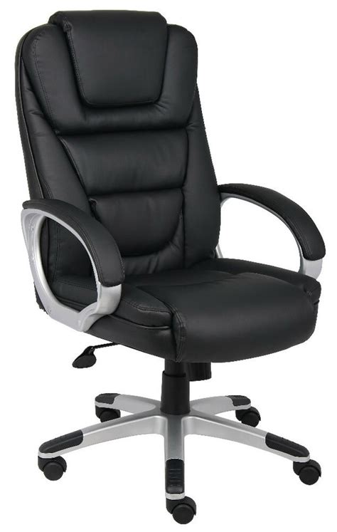 black leather desk office chair executive styleno tools required assembly  ebay